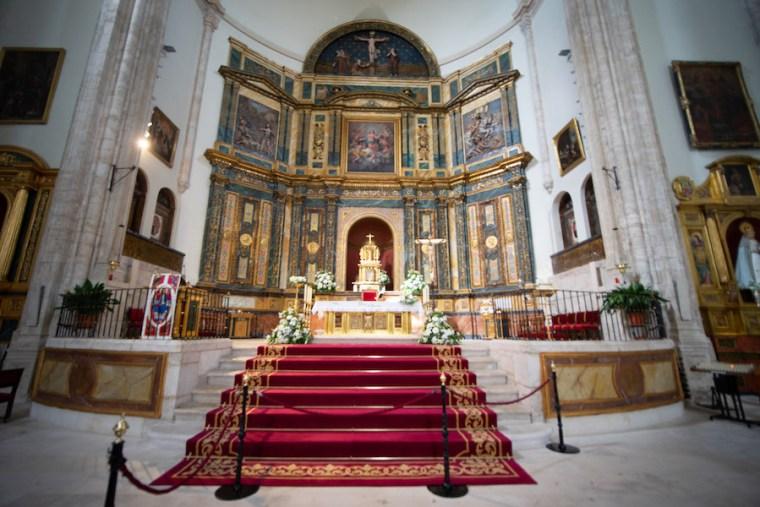 Lienzo de Goya en el altar de la Iglesia de Nuestra Señora de la Asunción en Chinchón, Madrid