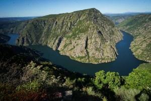 Mirador de Vilouxe en la orilla de Orense de la Ribeira Sacra, Galicia