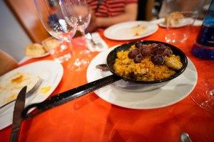 Migas en el restaurante San Antonio, Valdepeñas