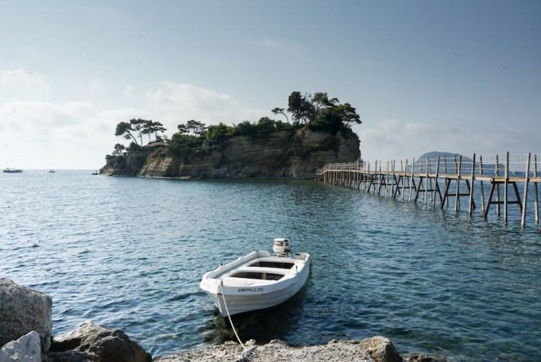 Cameo Island en la bahía de Laganas, isla Zakynthos