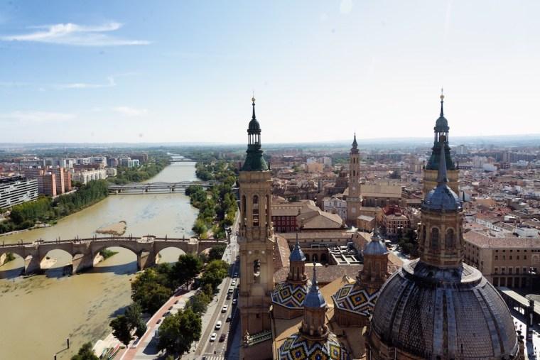 Vistas desde la Torre panorámica de la Basílica del Pilar, Zaragoza