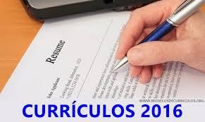 Modelos de currículo Prontos 2016
