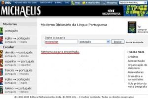 Dicionário Online Michaelis 02