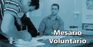 Mesário Voluntário Eleições 2014 - Participar, TRE 01