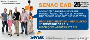 Vestibular Inverno Senac EAD 2014 - Inscrições, Edital 01