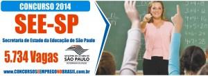 Concurso Professor SEED SP 2014 - Inscrições, Vunesp