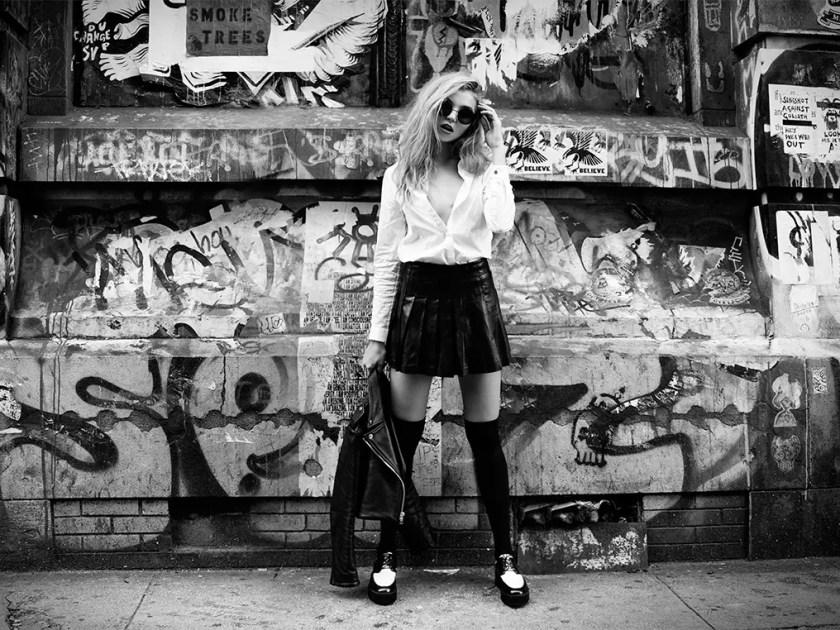 Rachel Hilbert fashion editorial Bowery street