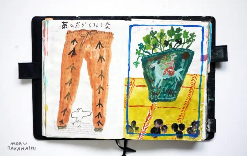 Gouache Paintings of Mogu Takahashi