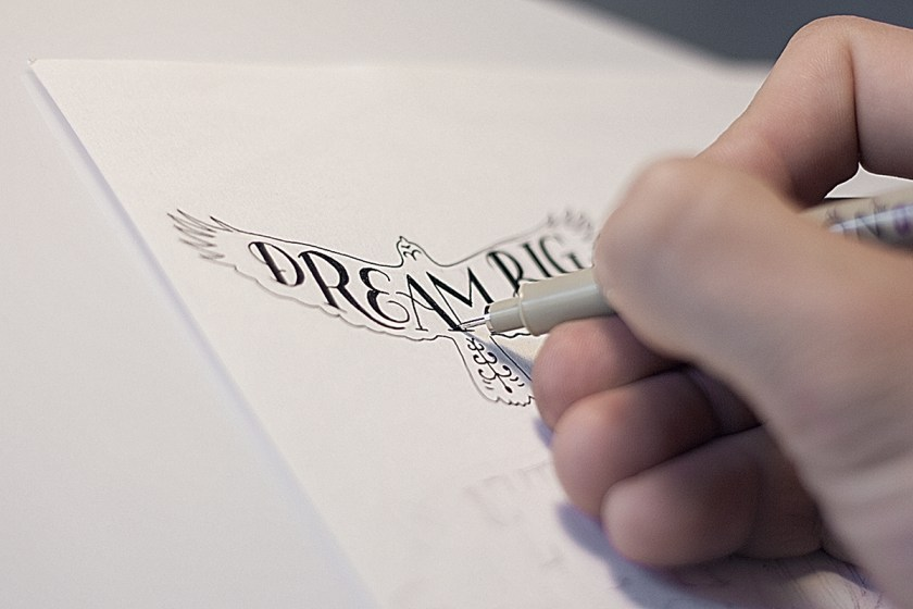 Calligraphy Gosha Bondarev Dream Big