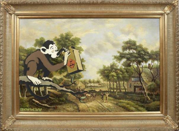 monkey poison banksy art for sale