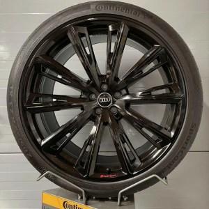 Original Audi 23 Zoll SQ8 Trapezoid schwarz Sommerräder 4M8601025AT Kompletträder Alufelgen Q8 RSQ8