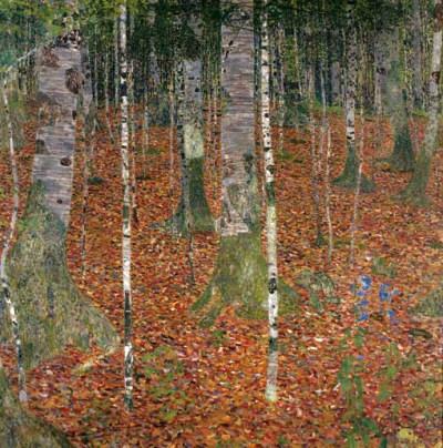 """Gustav Klimt """"Birch forest"""""""