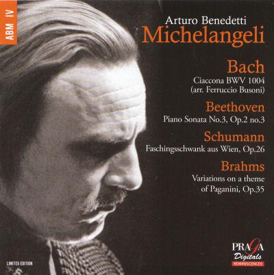 Arturo Benedetti Michelangeli - Bach -  Beethoven - Schumann - Brahms