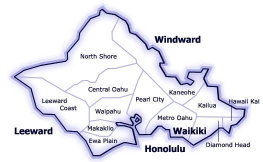 Neighborhoods and towns on Oahu