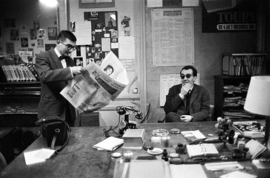 Chabrol and Godard at Cahiers du cinema