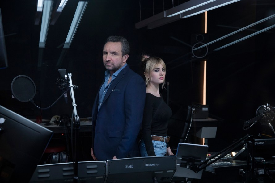 Eddie Marsan and Ivana Baquero in Feedback
