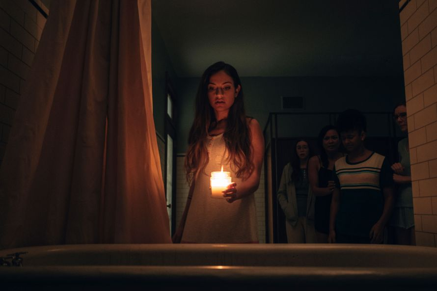 Seance Cast on Shudder - Inanna Sarkis as Alice