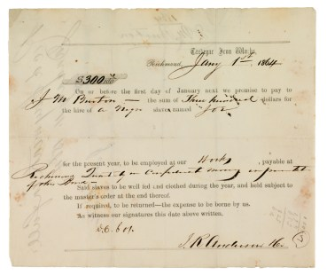 Slave bond (VHS call number: Mss4.T7138a1_front)