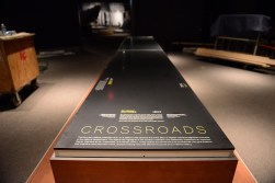 "This platform will support a dugout canoe. It's part of the ""Crossroads,""an X-shaped display surface that spans all three galleries and demonstrates Virginia's role at the crossroads of American history."