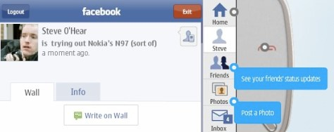 Screenshot Based Walkthrough Of The N97's Facebook Application