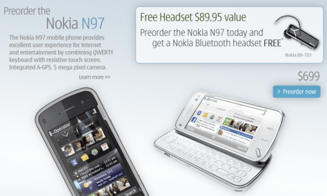 Pre-Order A N97 For $699 - Get a BH-703 Free