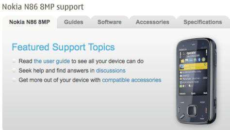 The Nokia N86 Support Pages Online - Release Can't Be Far Behind