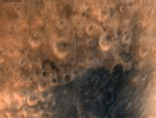 Mars Orbiter Spacecraft captures its first image of Mars. Taken from a height of 7300 km (courtesy Isro)