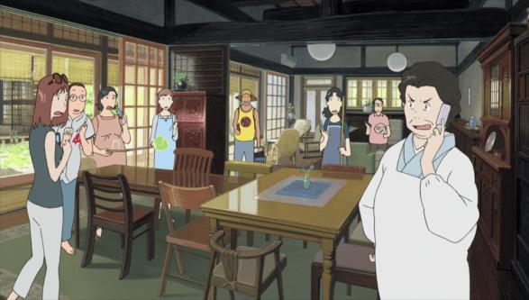Summer Wars - Les femmes de la famille Jinnouchi dans une situation embarrassante et rigolote