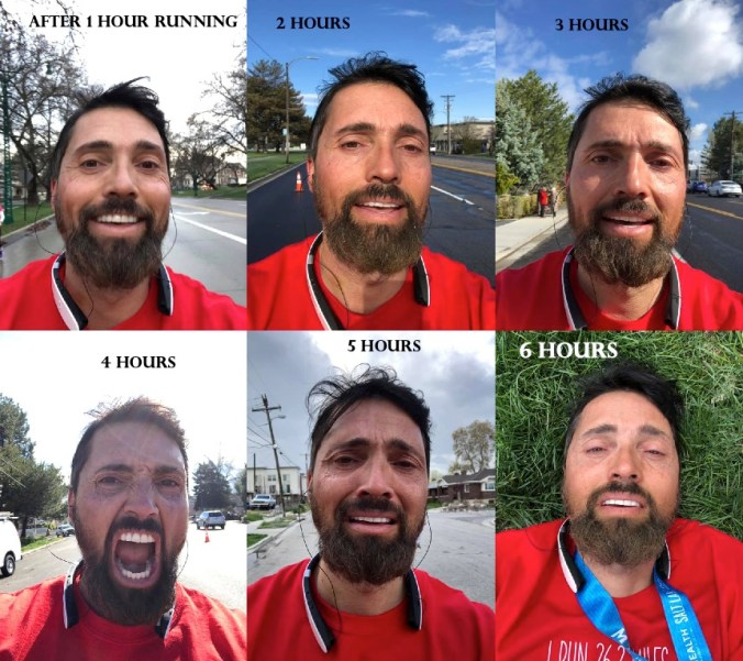 Vaillant slowly decomposing when running a full marathon