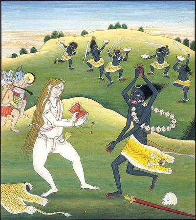 dance of Kali and Shiva