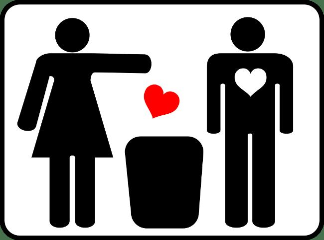 woman dumping man