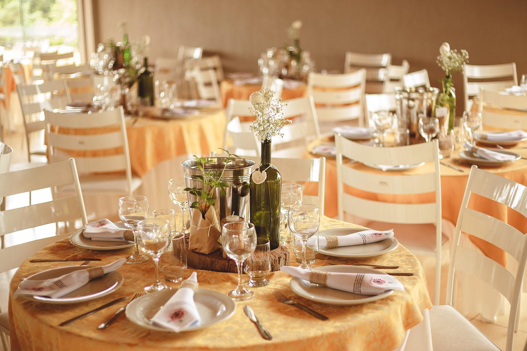 Casamento Rústico - Mesa dos Convidados