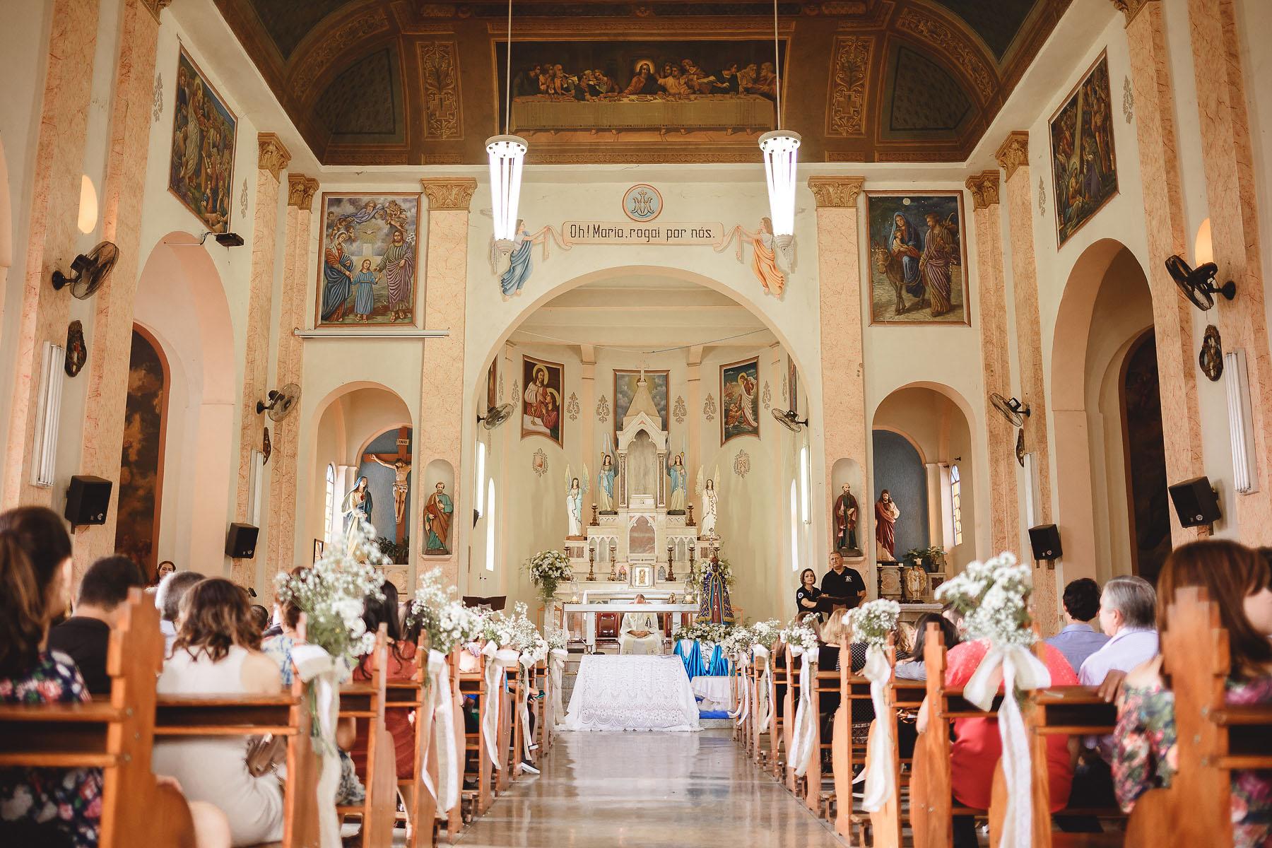 Casamento Rústico - Decoração da Igreja