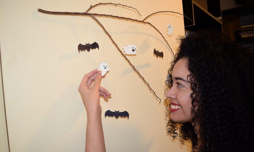 Halloween Minimalista - Enfeite de Halloween para Porta de Entrada