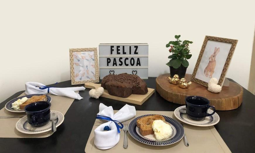 Mesa Posta para Café da Manhã de Páscoa