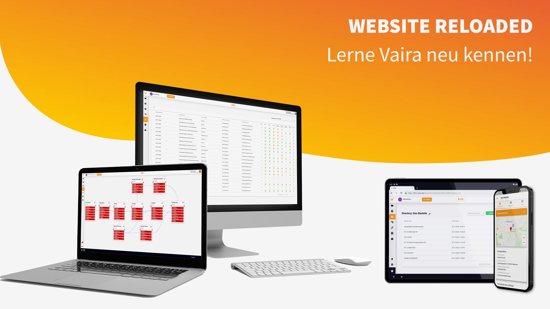 Mit der neuen Vaira-Website legen wir den Fokus mehr auf die Features von Vaira. Egal ob Computer, Smartphone oder Tablet: mit Vaira kannst du deine Bauprozesse digitalisieren und per Augmented Reality vermessen.