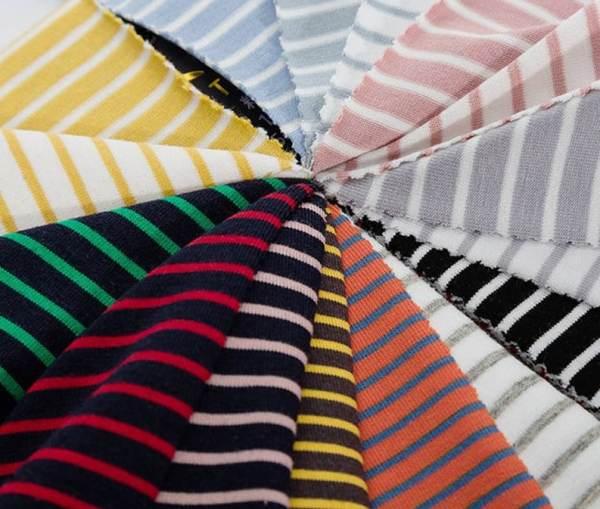 Vải thun sọc Visco - Dẻo lụa