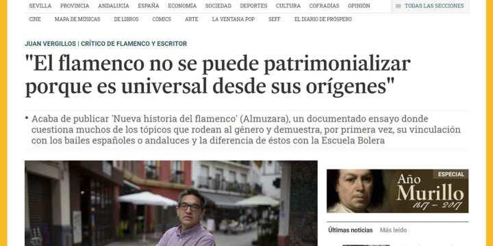 Dosier de prensa del libro 'Nueva historia del flamenco'