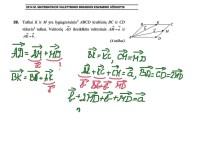 Vektoriai. Matematikos valstybinis brandos egzaminas.