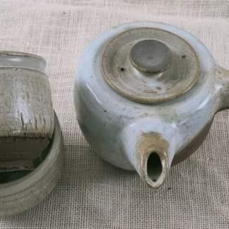 Juego de té inspiración oriental asa cerámica