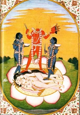 Ритуальное поклонение часть и атрибут майтхуны
