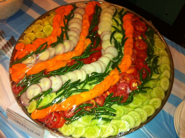 Fresh vegetable salads