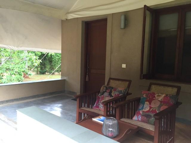 The Garden Cottages have a nice verandah