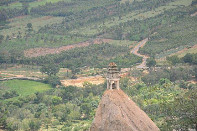 Virbhadra temple in the hill