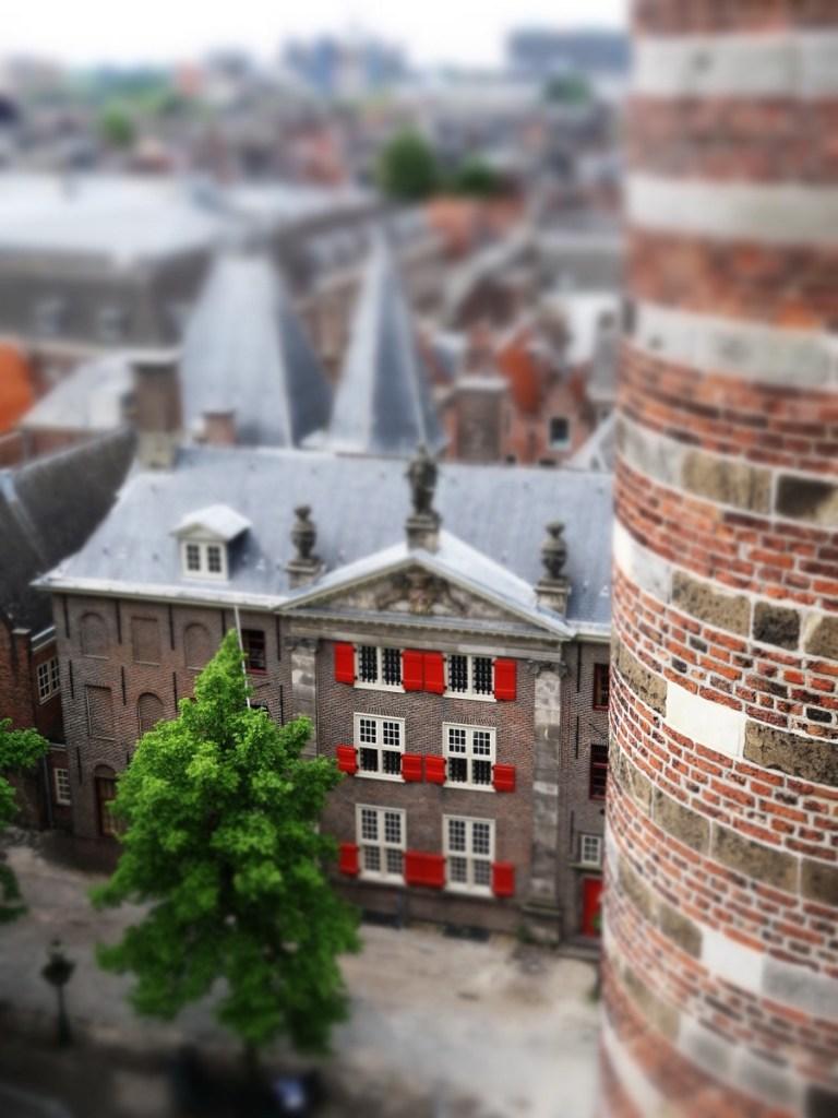 Vakantaseren, favoriete steden, Pieterskerk Leiden, tiltshift