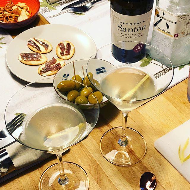 🥩night!!! #martini #cesarsalad #steak
