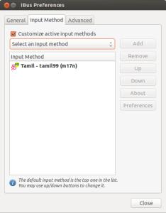 Tamil 99 in Ubuntu