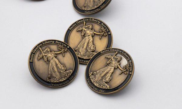St. Gaudens' Liberty Enamel Pin