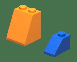 Slope 65 2x2x2 y slope 45 2x1