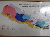 Die ethnische und kulturelle Vielfalt Nepals auf der Landeskarte veranschaulicht